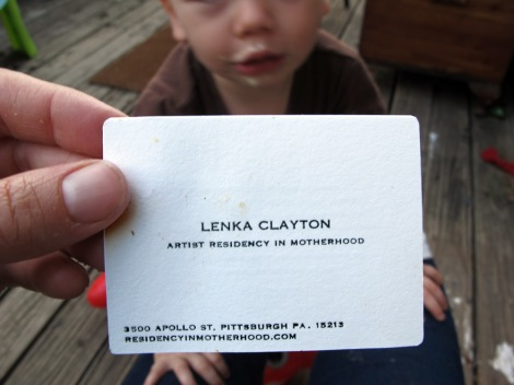 """Visitors Card - Front"", by Lenka Clayton"